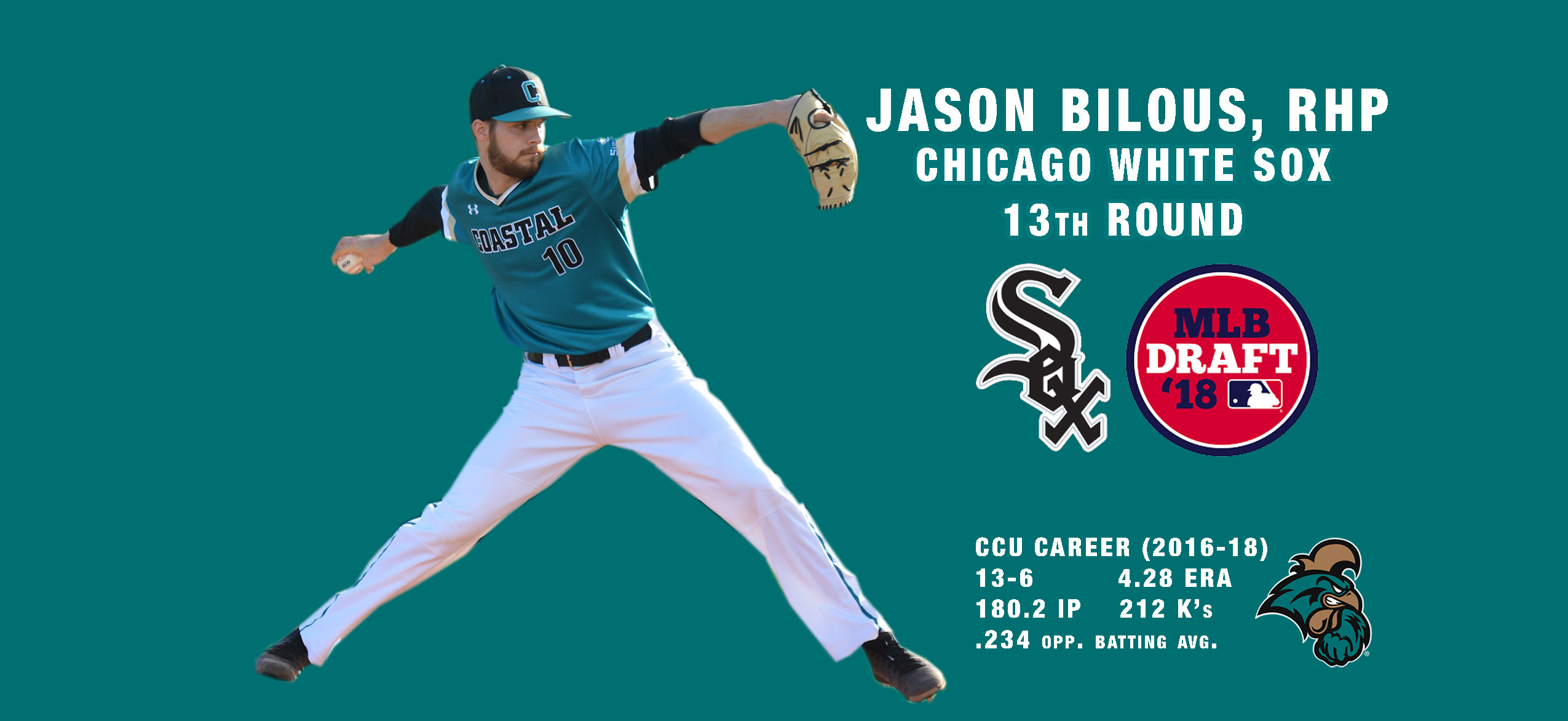 Jason Bilous Drafted in 13th Round by White Sox - Coastal